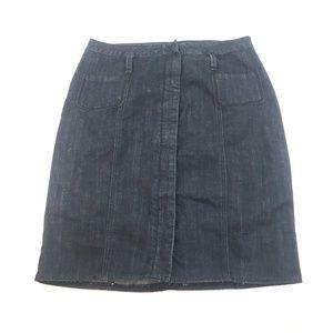 Venezia Women Dark Wash A-Line Skirt Sz 14 O161